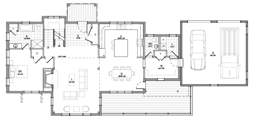 Mountain Lodge Floor Plan Timber Creek